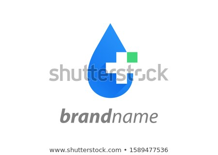 Clinic Logo, Cross and Drop, Medical Brand Vector Stock photo © robuart