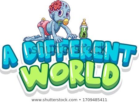 Fonte projeto palavra diferente mundo bebê Foto stock © bluering