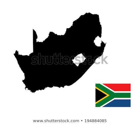 ЮАР стране силуэта флаг изолированный белый Сток-фото © evgeny89