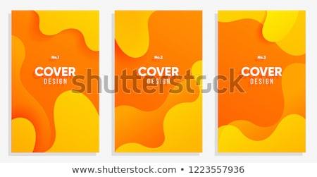 Résumé fluide texte cadre orange Photo stock © barsrsind