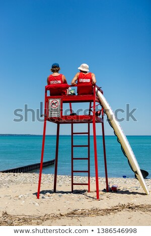 life guard tower and ocean  Stock photo © vladacanon