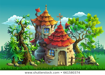 Wall of fairy-tale castle Stock photo © deyangeorgiev