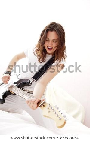 Zdjęcia stock: Portret · młodych · dość · dziewczyna · uczucie · wolna