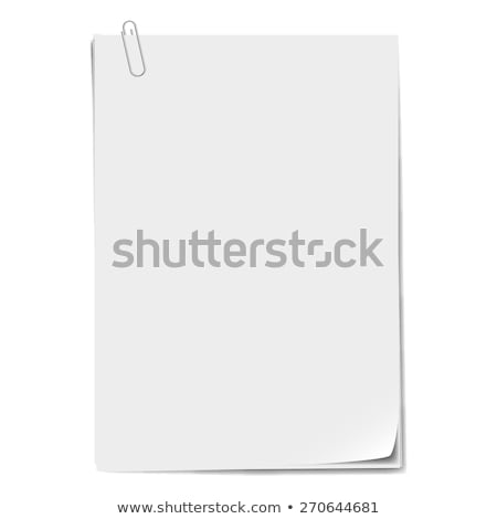 paper sheet and clip stock photo © witthaya