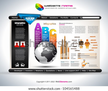 Website elegante ontwerp business presentaties sjabloon Stockfoto © DavidArts