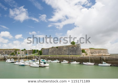 Island Oleron in France with yachts in harbor Stock photo © ivonnewierink