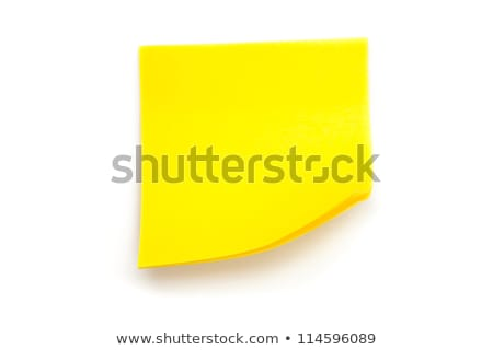 Adhesive note against a white background Stock photo © wavebreak_media