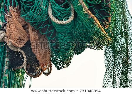 Fishing winch for professional fisherman boats Stock photo © lunamarina
