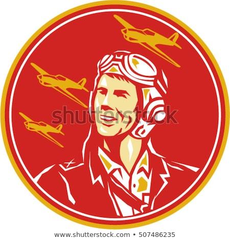 World War Two Pilot Airman Retro Stock photo © patrimonio