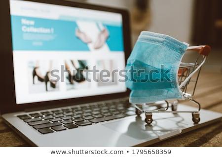 Számítógép billentyűzet közelkép asztali számítógép billentyűzet gombok munka Stock fotó © janaka