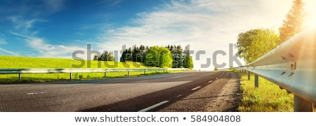 Stock photo: empty road in sunlight blue sky destination
