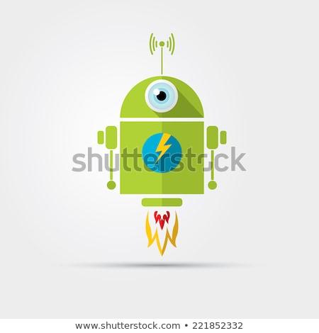 Läuft android Roboter isoliert Mann Modell Stock foto © Kirill_M
