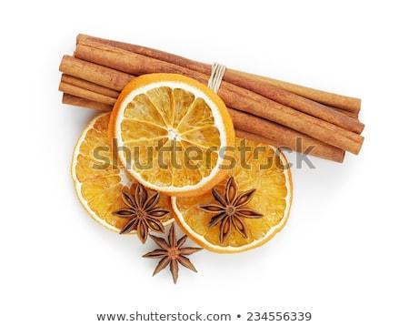 Secas laranja fundo estrela natal cozinhar Foto stock © M-studio