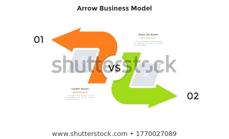 Beslissing keuze pijl abstract vector business Stockfoto © burakowski