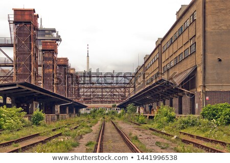 the old cargo railway station zizkov in prague stock photo © sarkao