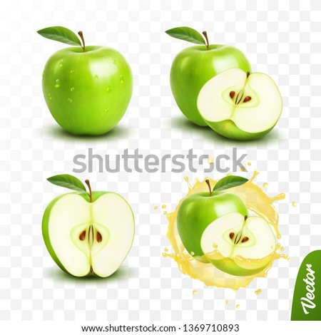 verde · mela · rugiada · gocce · isolato · bianco - foto d'archivio © kurhan
