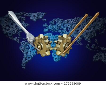 Nyugat üzlet importáru Ázsia globális kereskedelem Stock fotó © Lightsource