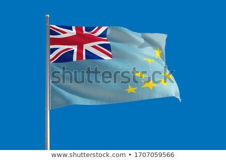 Bandeira Tuvalu mapa país mapas botão Foto stock © Ustofre9