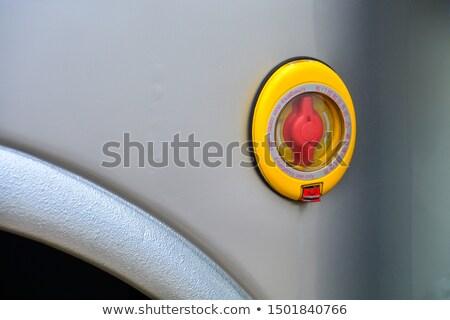 Vészhelyzet kijárat kapcsoló felirat busz Stock fotó © meinzahn