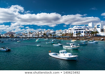 laguna at the city of arrecife stock photo © meinzahn