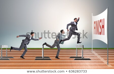 Crossing a Hurdle Stock photo © songbird
