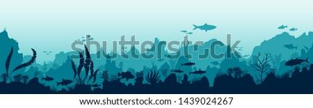 underwater sea world stickers Stock photo © LittleCuckoo