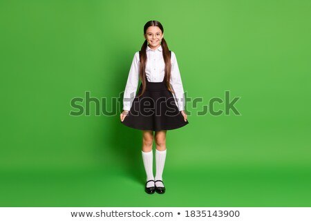 Young schoolgirl with her hair in pigtails Stock photo © stryjek