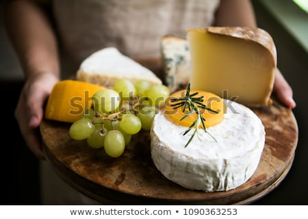 cheese with green grapes Stock photo © M-studio