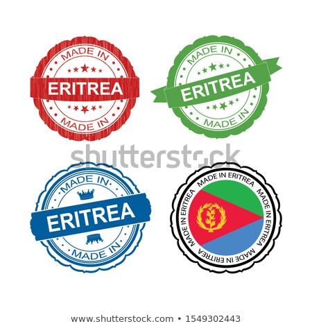 Эритрея красный штампа изолированный Сток-фото © tashatuvango
