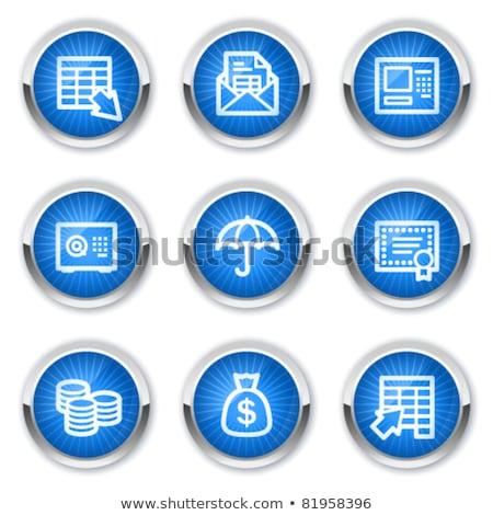 Gewelf Blauw vector icon knop internet Stockfoto © rizwanali3d