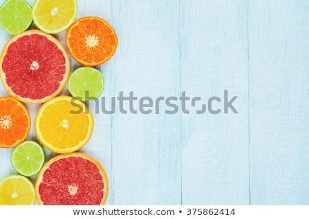Frischen voll süß orange Früchte rustikal blau Stock foto © stevanovicigor