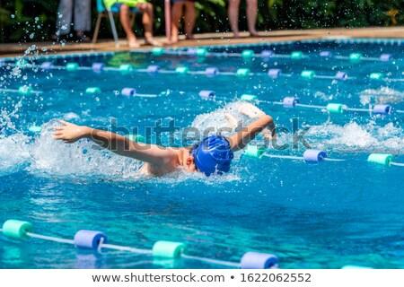 Geschikt zwemmer vlinder zwembad recreatie centrum Stockfoto © wavebreak_media