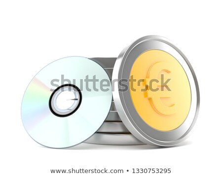 Cd and euro coins Stock photo © fuzzbones0