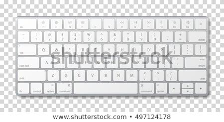 Foto stock: Manzana · teclado · blanco · negocios · frutas · tecnología