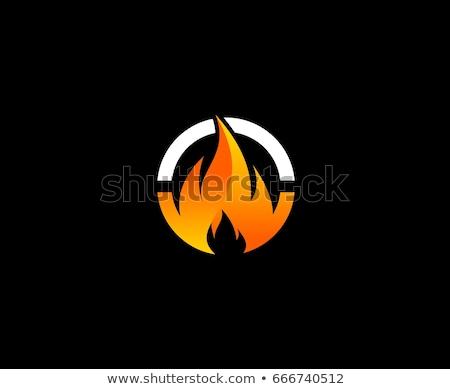 火災 ロゴ アイコン 難 テンプレート デザイン ストックフォト © Ggs