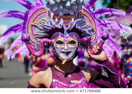 Woman in Mardi Gras costume. Stock photo © iofoto