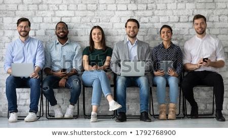 Hat foglalkoztatott férfiak illusztráció fehér férfi Stock fotó © bluering