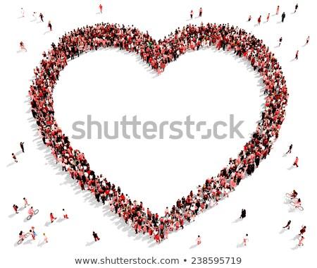 Ilustración tarjeta corazón mujer boda amor Foto stock © yurkina