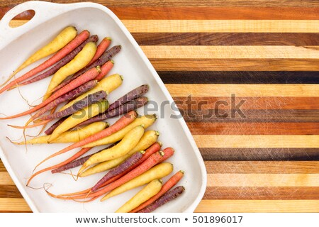 Multicolored colorful carrots on a platter Stock photo © ozgur