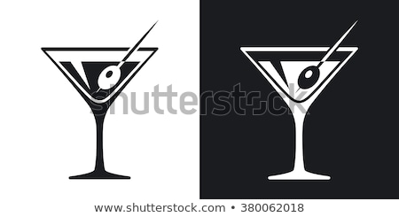 Dos de oliva martini cócteles fiesta vidrio Foto stock © Alex9500