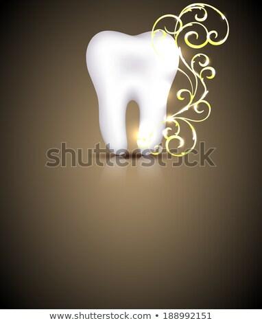 elegante · dental · projeto · dourado · elemento - foto stock © Tefi