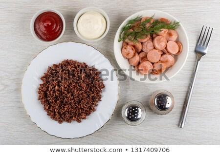 завтрак · таблице · лоток · вкусный · деревянный · стол · продовольствие - Сток-фото © wavebreak_media