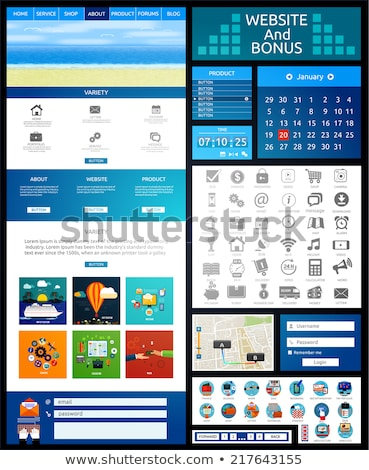 Mobile Tabs Flat Raster Icon Stock photo © ahasoft