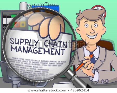 ストックフォト: 供給 · チェーン · 管理 · レンズ · いたずら書き · スタイル