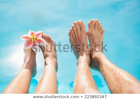 пару Бассейн женщину Сток-фото © wavebreak_media