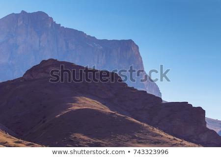 coucher · du · soleil · montagnes · couvert · neige · montagne - photo stock © burchenko