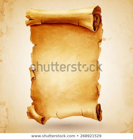 old paper scroll vector illustration Stock photo © konturvid