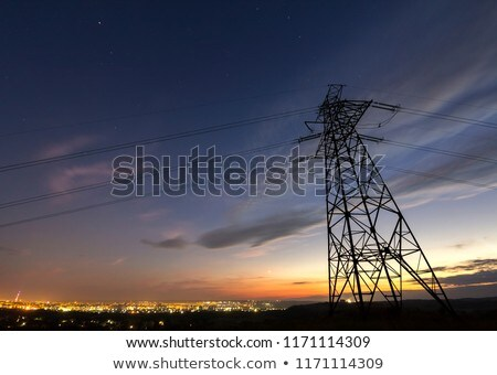 Electricity pylon at night Stock photo © IS2