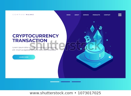 Isometric mining farm landing page concept. Stock photo © RAStudio