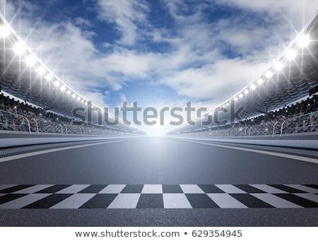Stadion versenypálya piros közelkép lövés Stock fotó © devon